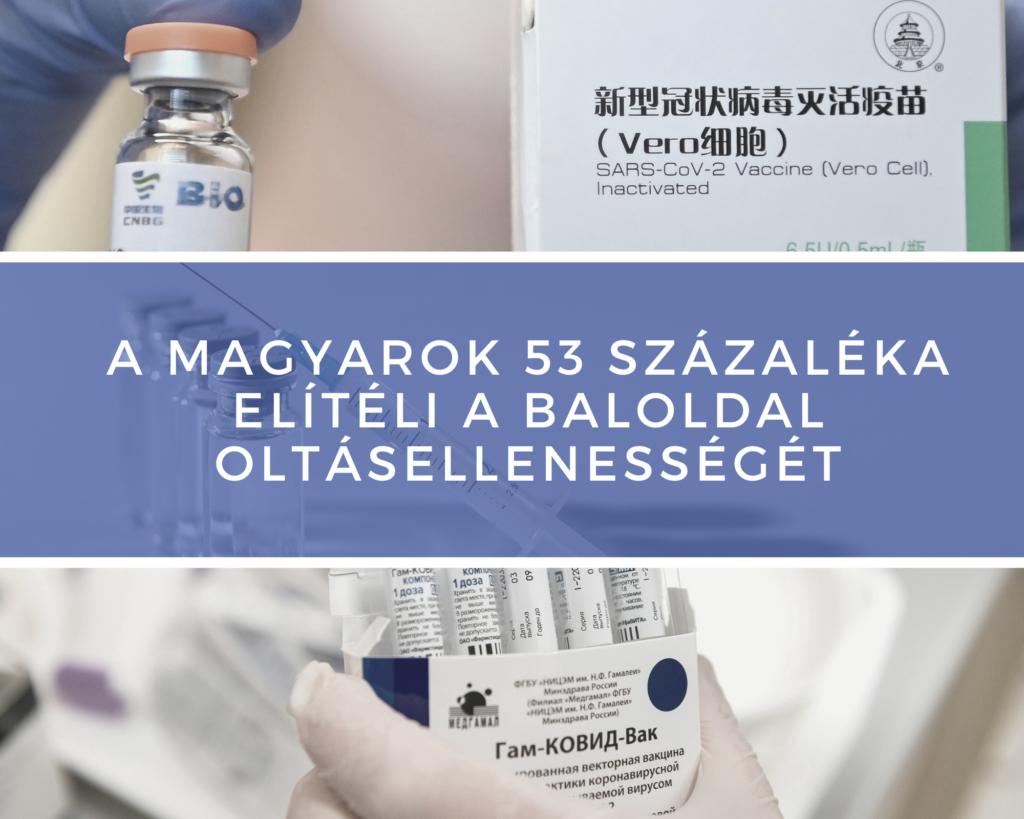 A MAGYAROK 53 SZÁZALÉKA ELÍTÉLI A BALOLDAL OLTÁSELLENESSÉGÉT